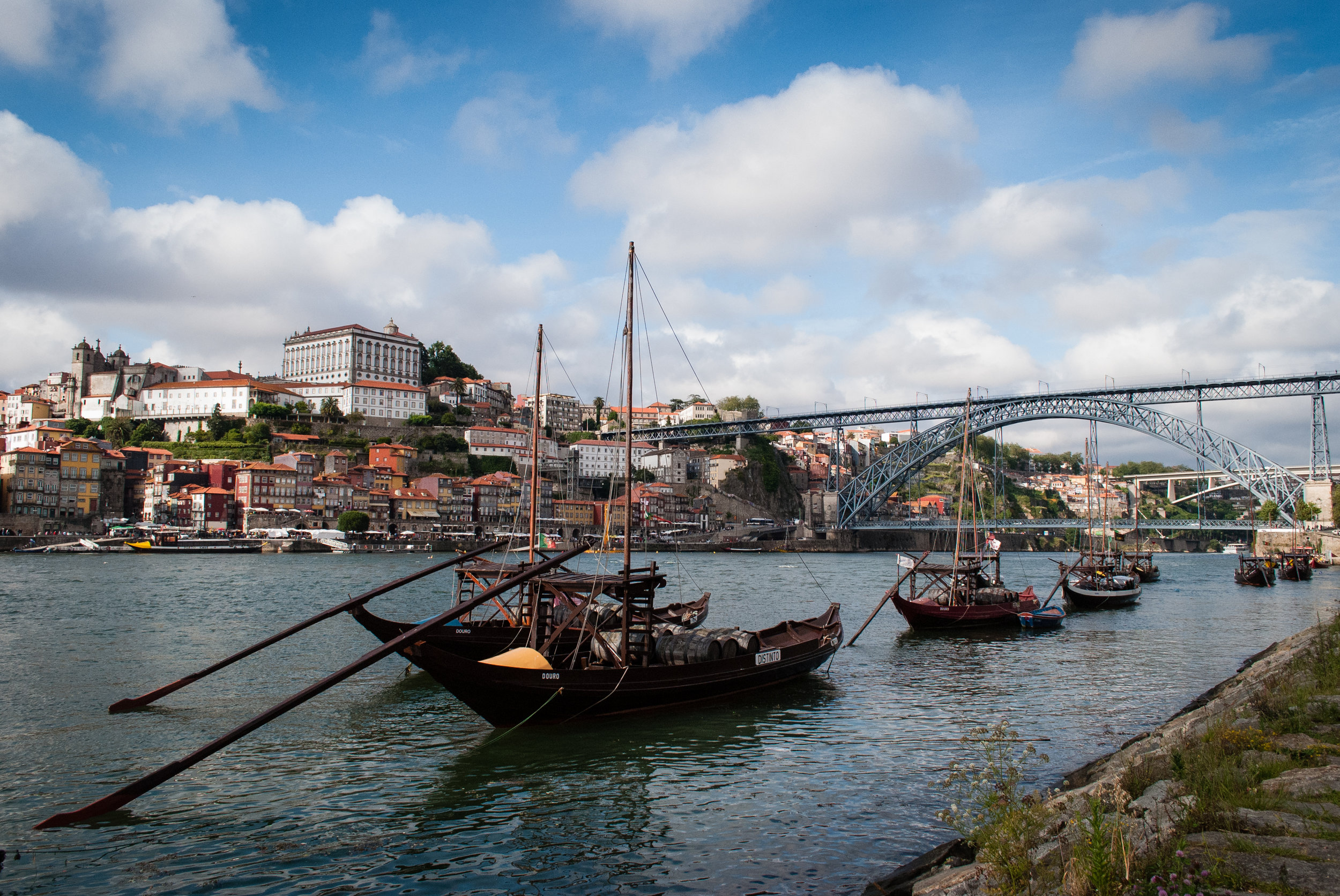 Rabelo is a traditional Portuguese cargo boat originally used to transport the barrels of Porto wine from the wine cellars in Vila Nova de Gaia to Porto. Nowadays, the boats are used as sightseeing cruises that sail down the Douro River and offer a different perspective of Porto. Porto, Portugal