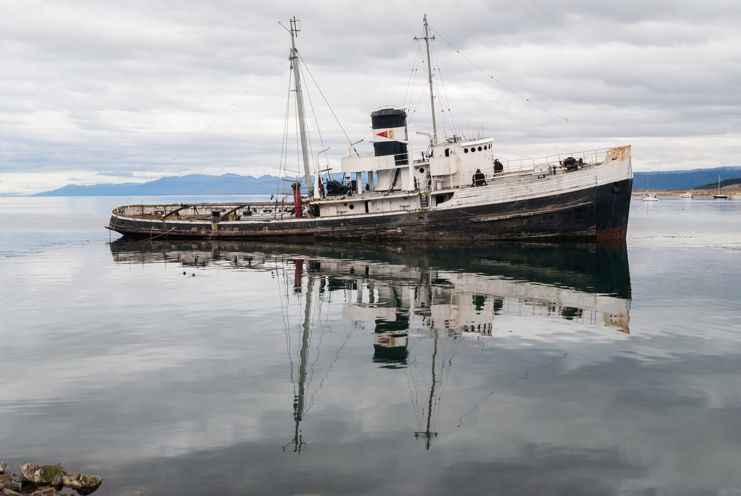 "The end of this boat's life, in the place known as ""The End of the World"": Ushuaia, Patagonia Argentina"
