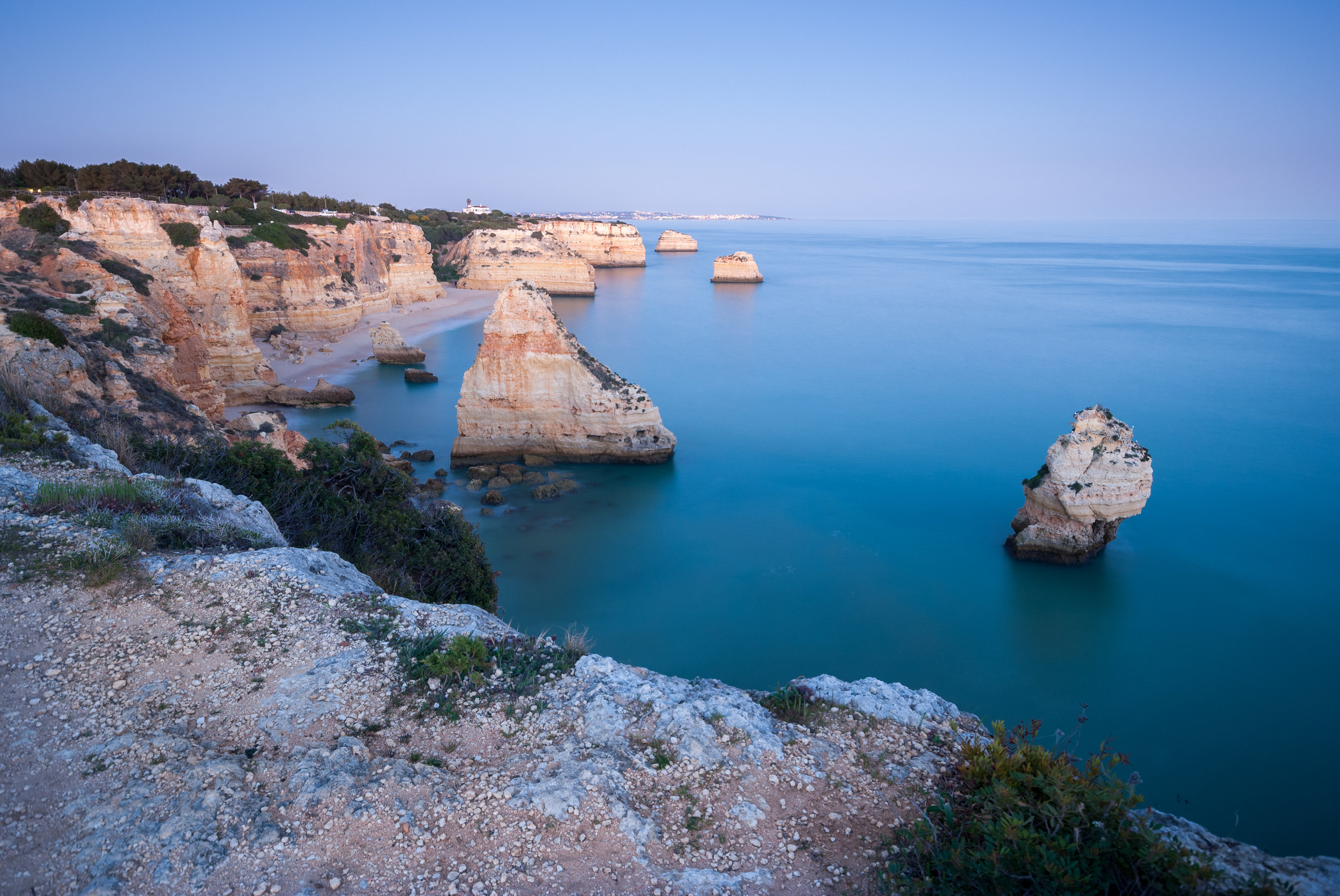 Blue hour at Lagos Portugal