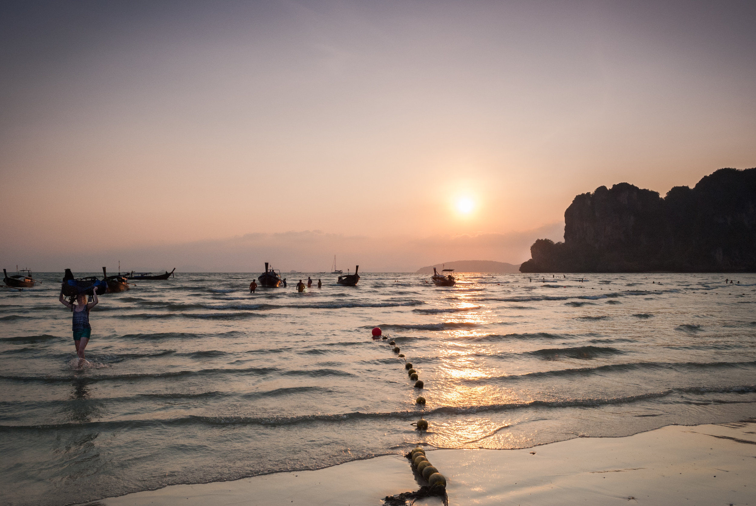 In such a remote place like Railay Beach, sometimes the only way to get there is to walk. Railay Beach, Thailand