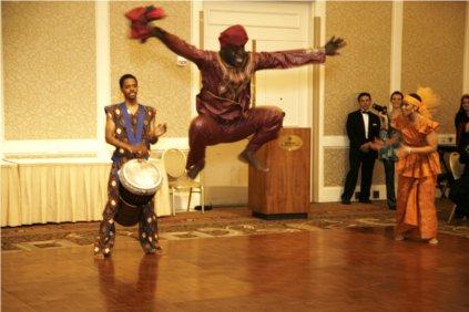 African Dancer at World Bank Gala