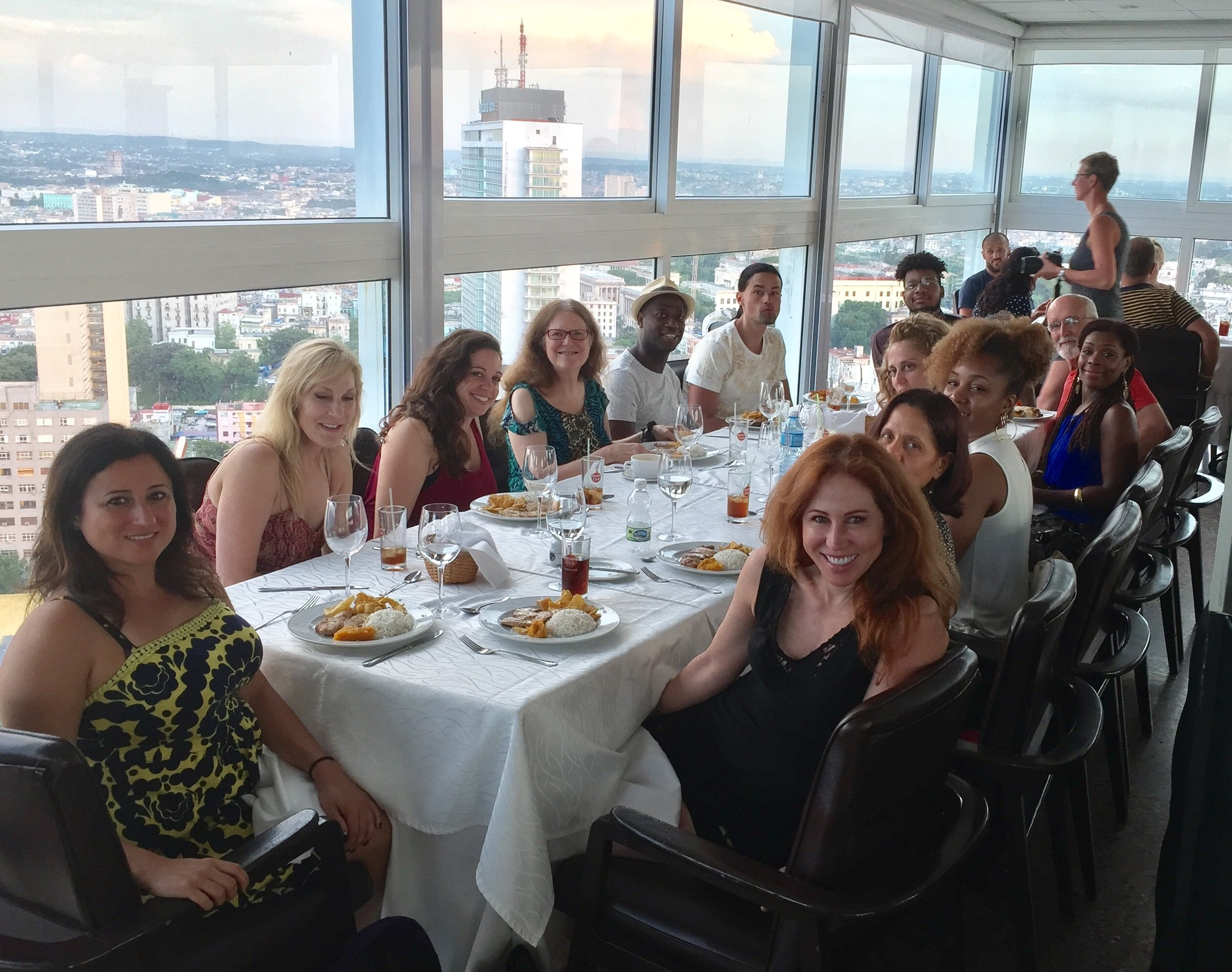 Dinner overlooking Havana, Cuba....(then off to Salsa at a club)!