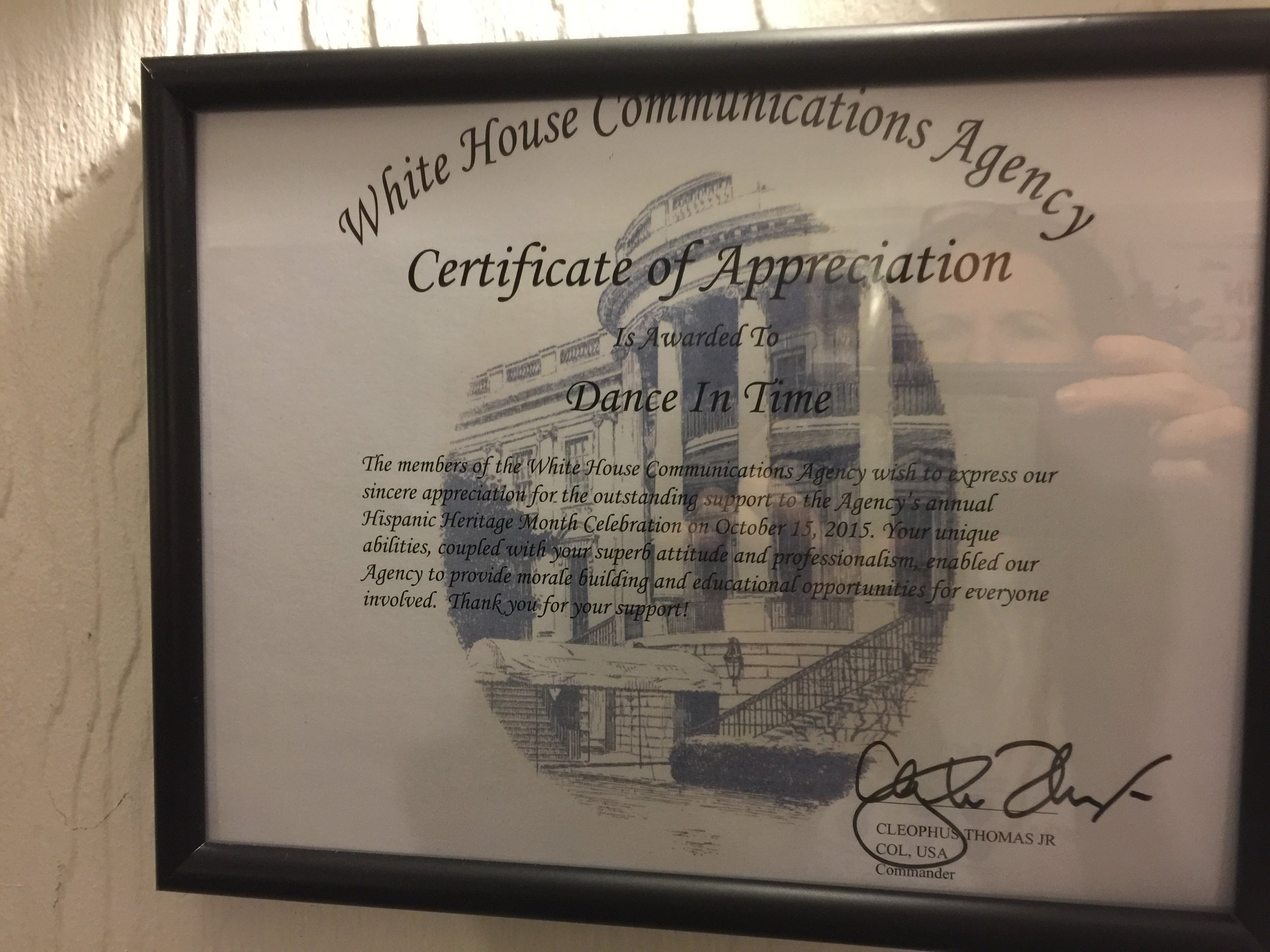 White House Award For DIT!
