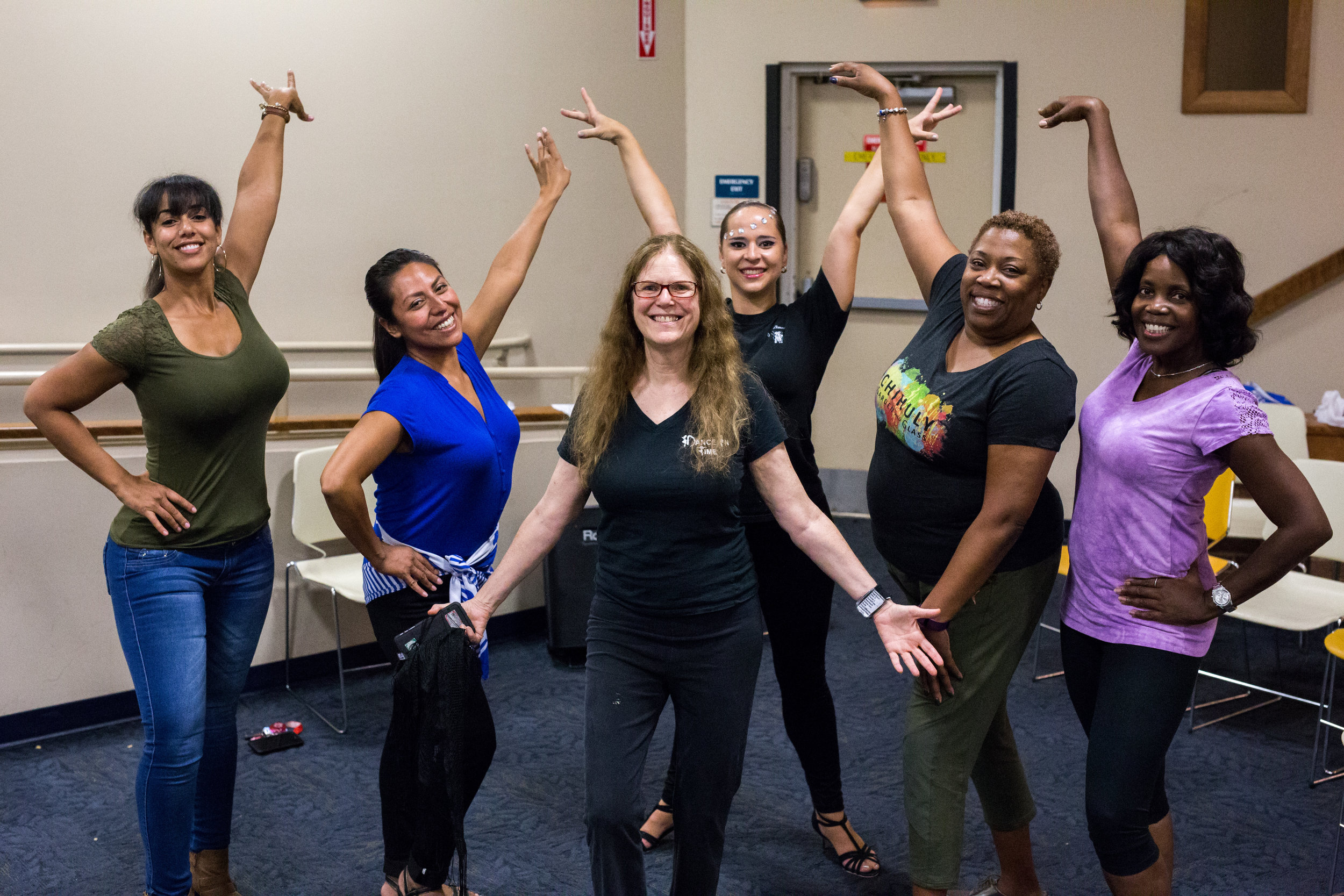 After a Library Program, Audience Members Asked To Pose With The Dancers!