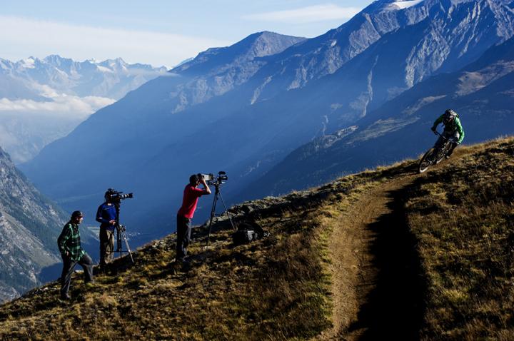 Behind the scenes in Zermatt, Swizerland. Photographed in August 2011.