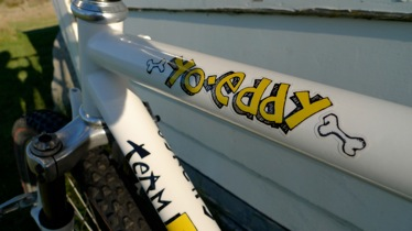 One of Chris' rad old school rides – his Team Fat Chance Yo Eddy.