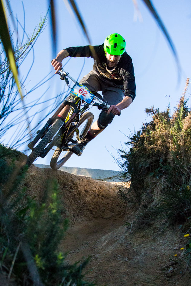 Ben Stephens knows that you stay out of the ruts to be quick.