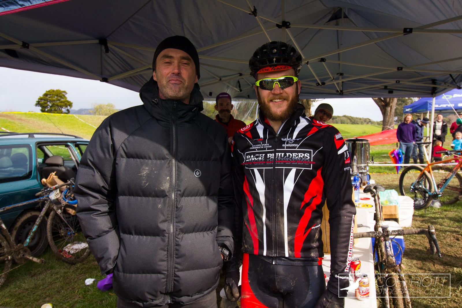 Anders Waiker with the major spot prize winner, Kirk Hamilton.