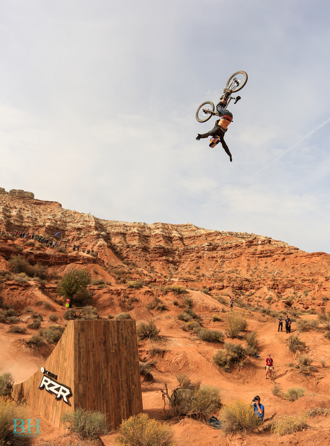 Thomas Genon, on the RZR gap which was used for the biggest tricks including a double backflip and loads of other huge flips