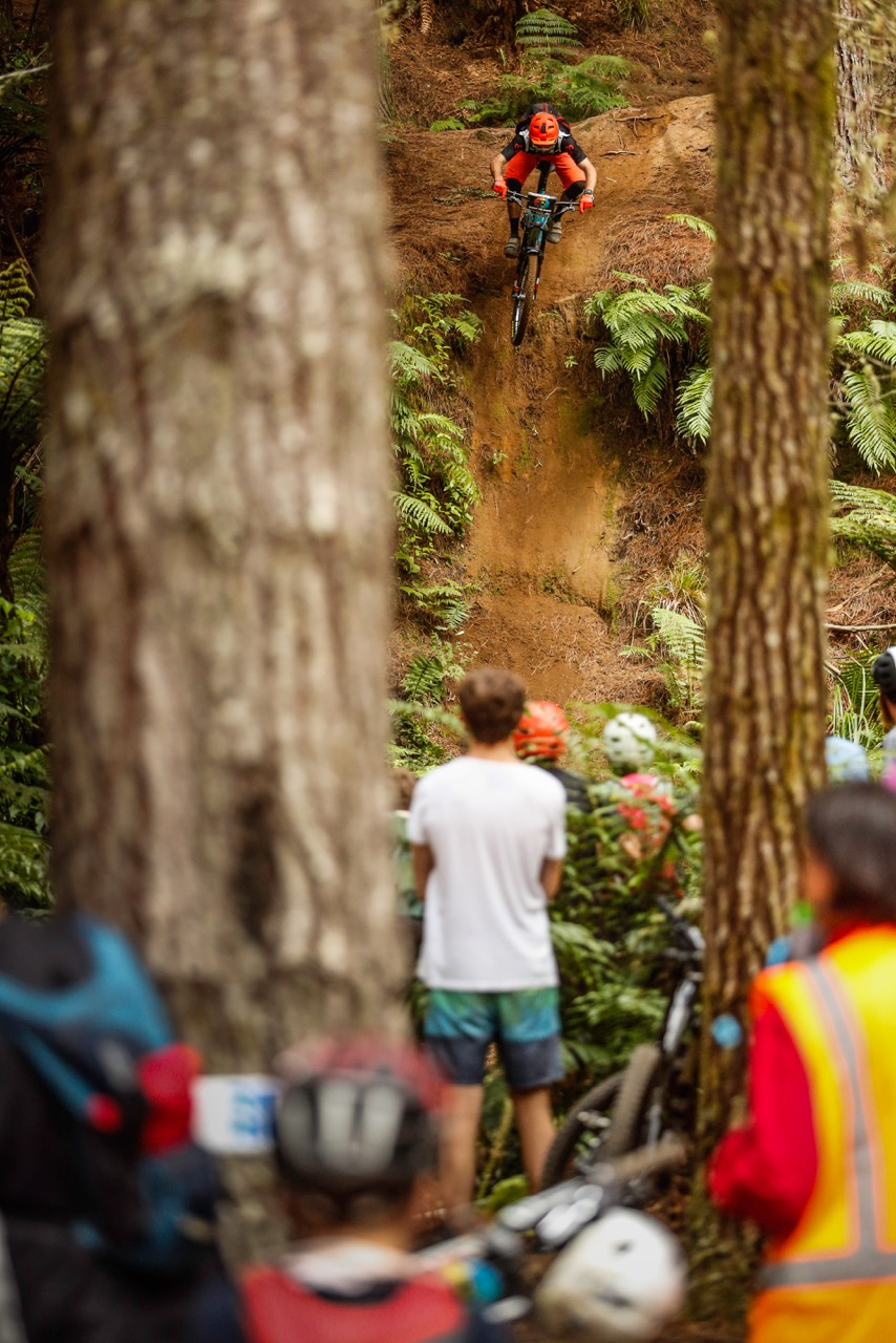 Iago Gary samples the Redwoods at race pace. Photo:Caleb Smith
