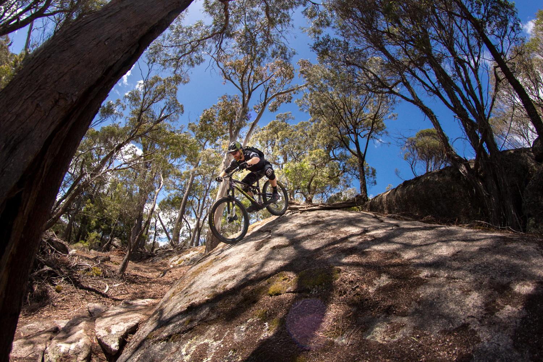 Blue Derby rocks. Rob Potter rolls one on Black Dragon. Photo: Brett Kennedy