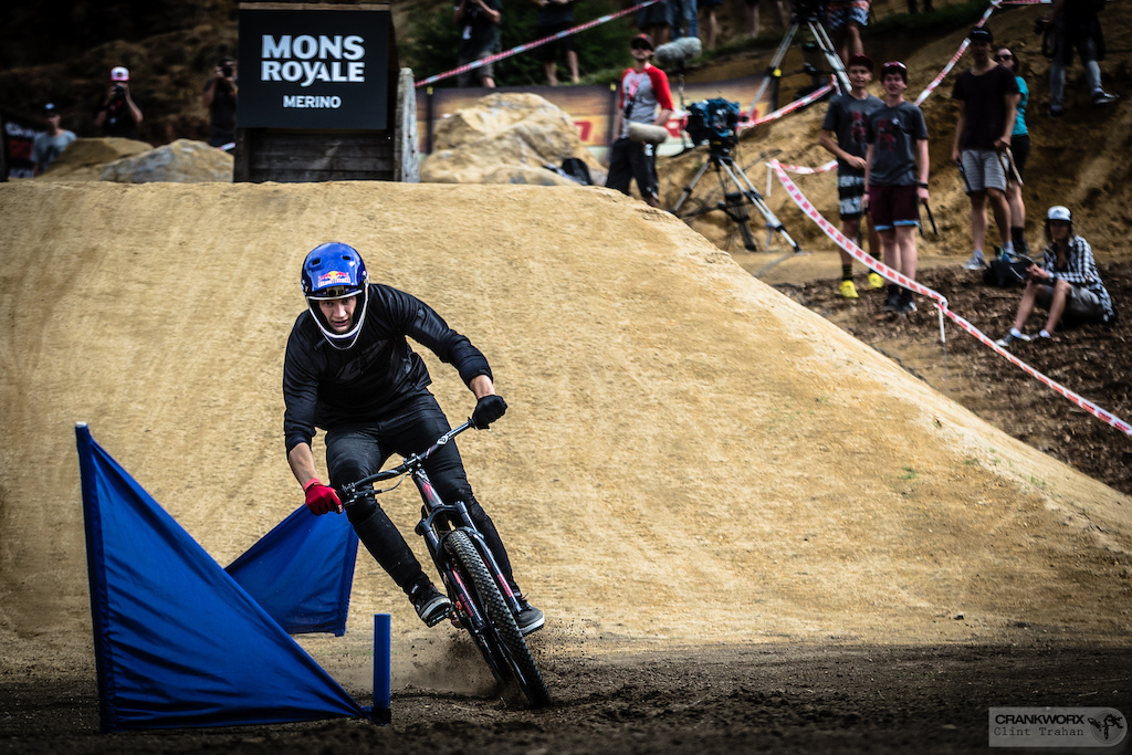 Martin Soderstrom returns to the scene of this Mons Royale Dual Speed and Style victory, hoping to make the event a building block en route to King of the Crankworx World Tour. (Photo: Clint Trahan/Crankworx)