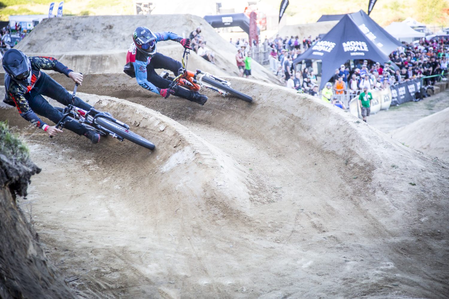 Nothing beats head-to-head racing - Sam Reynolds on the outside chasing Tomas Lemoine