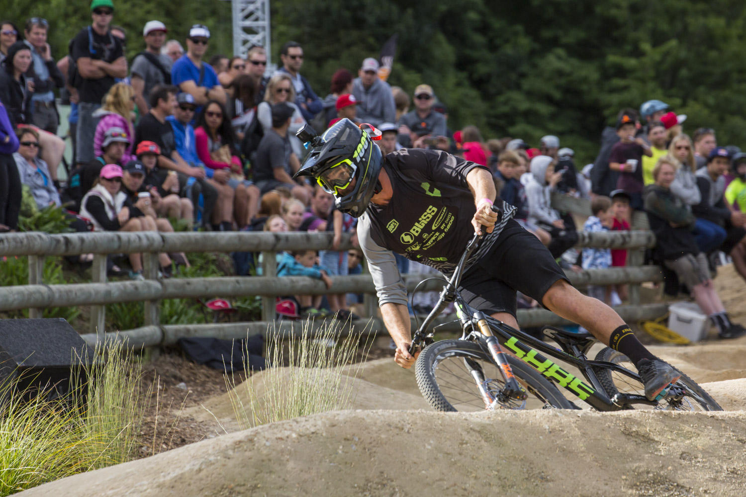The proximity of the crowd gave the pump track one of the best atmospheres - Matt finished up 3rd