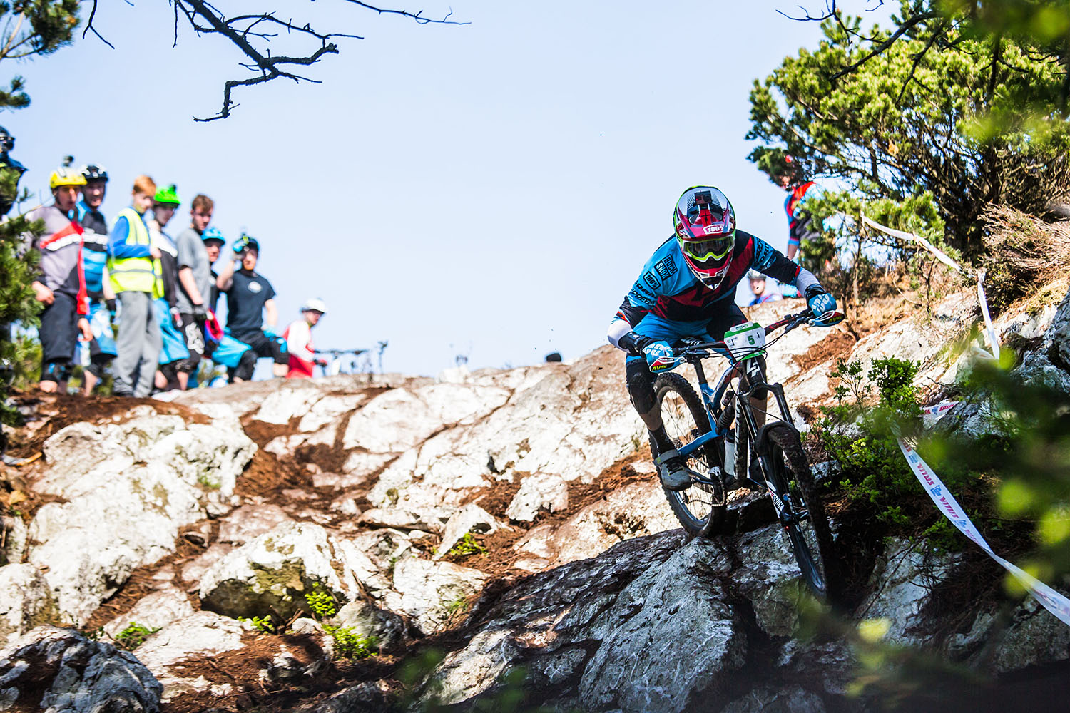 Nico showing us how it is done during practice on stage 3. Photo: Lapierre- Jeremy Reuiller
