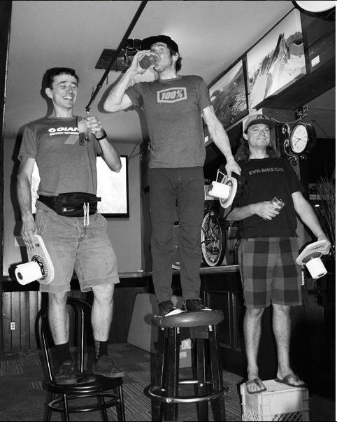 Jamie celebrating his win... Image:  Jamie Nicoll Adventures Instagram