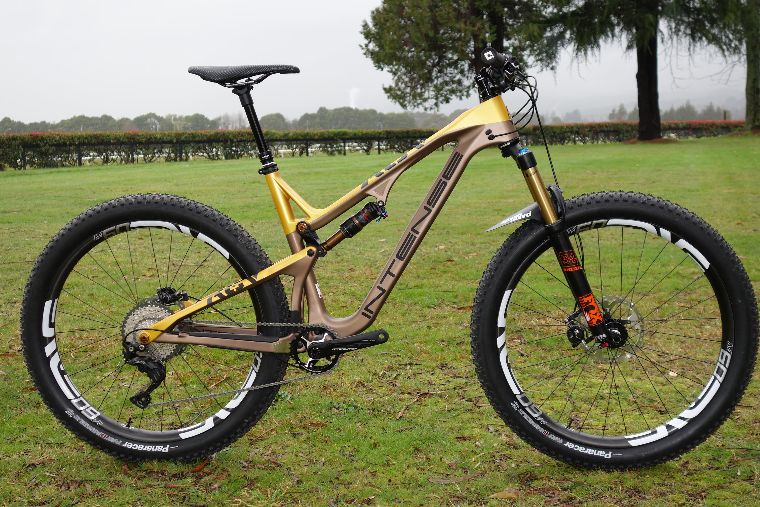 """The ACV . A 275 Plus bike. Seen here on 3.5"""" Panaracers, as the 2.8"""" Maxxis tyres that were meant to go on it hadn't arrived yet."""