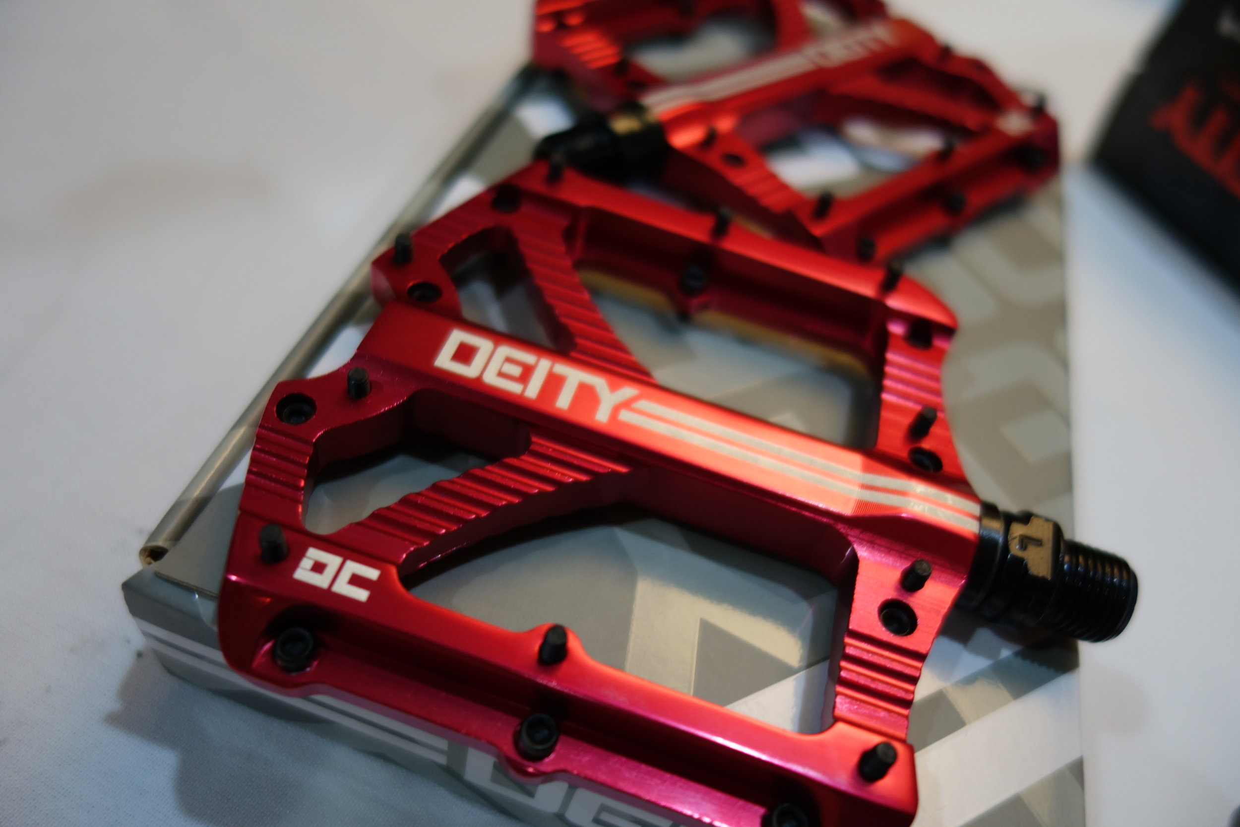 Another exciting brand they have is Deity. Strong looking pedals , handlebars and stems.
