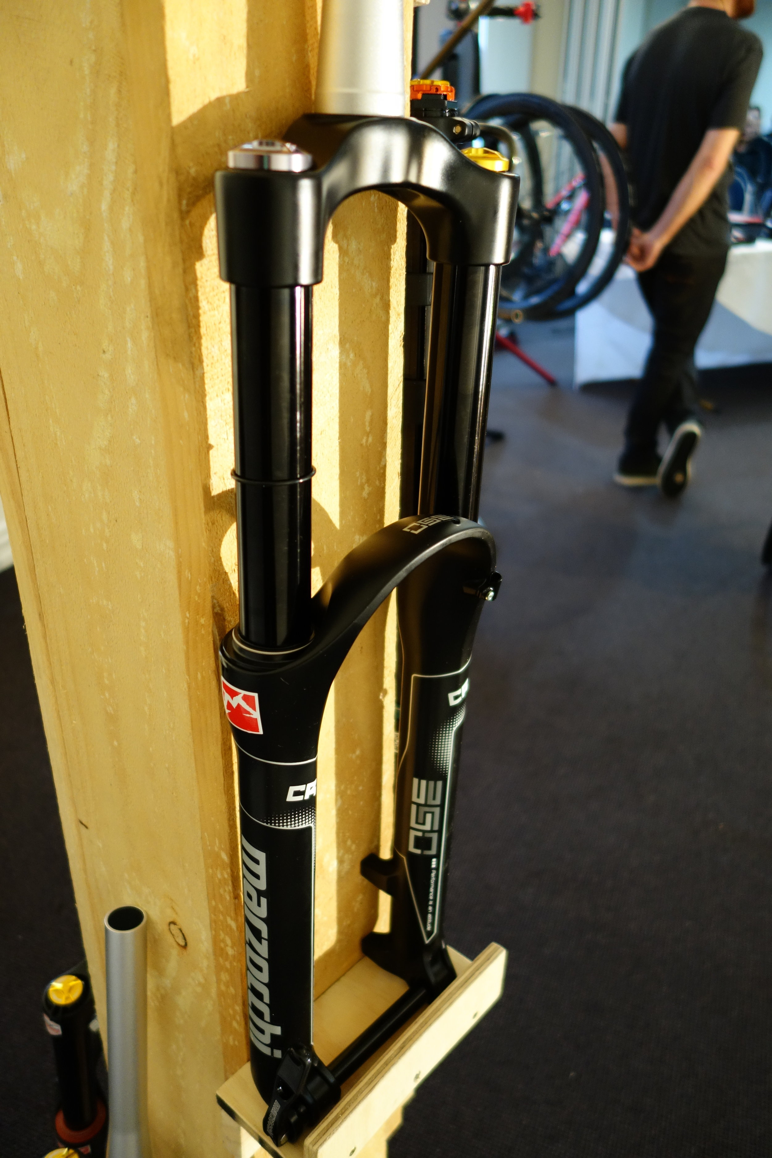 Did you know Fox Racing has bought Marzocchi? We'll see a lot more of this brand and tech guru Cam told me that their fork quality appears to be improved already.