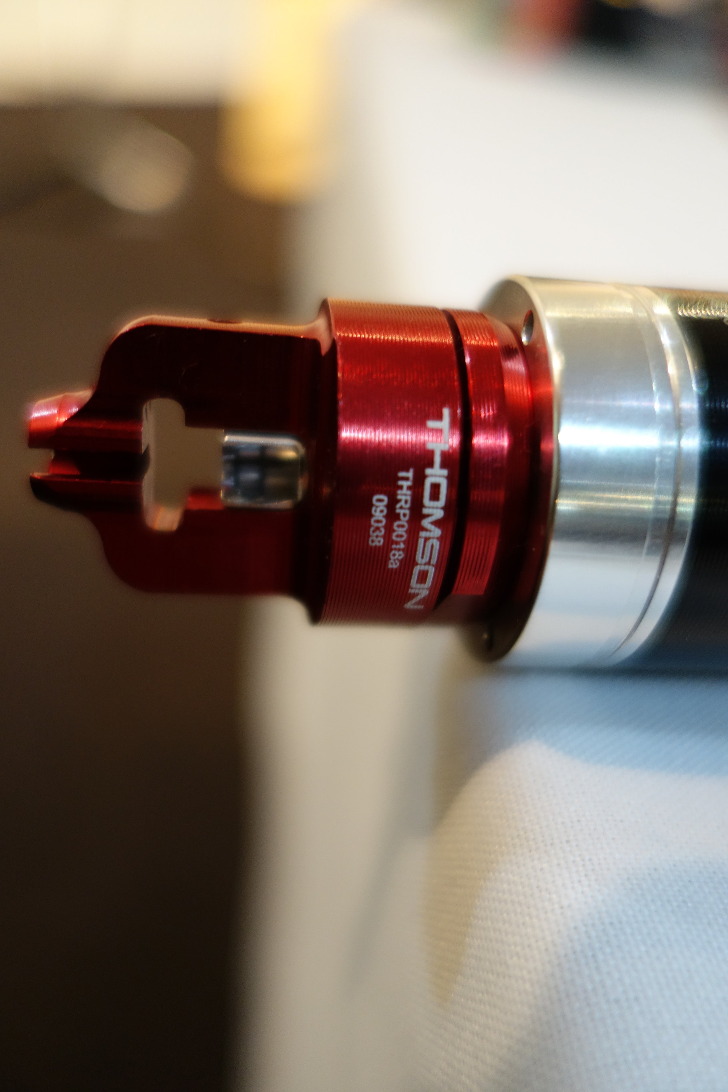 The hidden end of the super smooth Thomson Covert dropper. All Class.