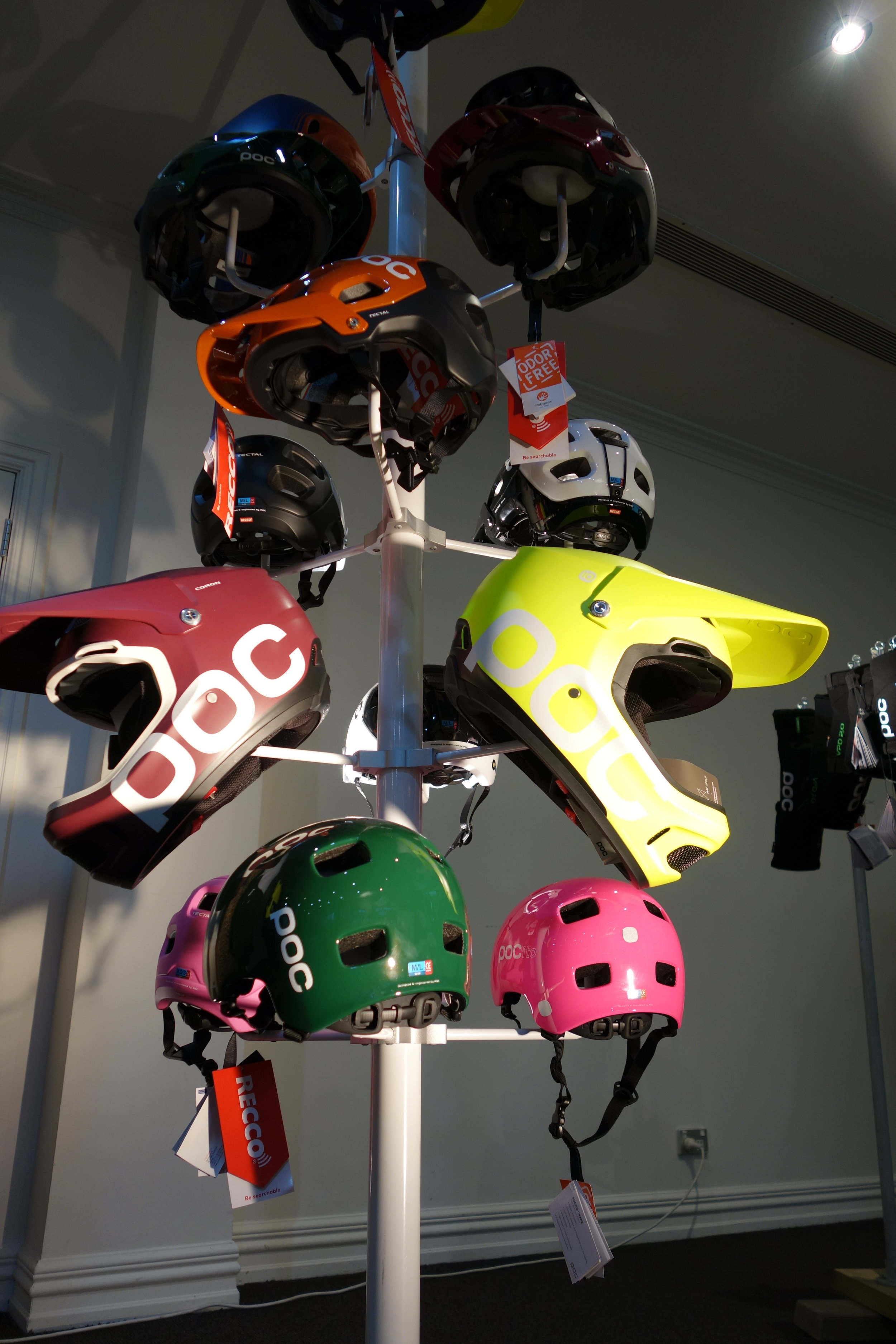Some new colours in the POC helmet lineup