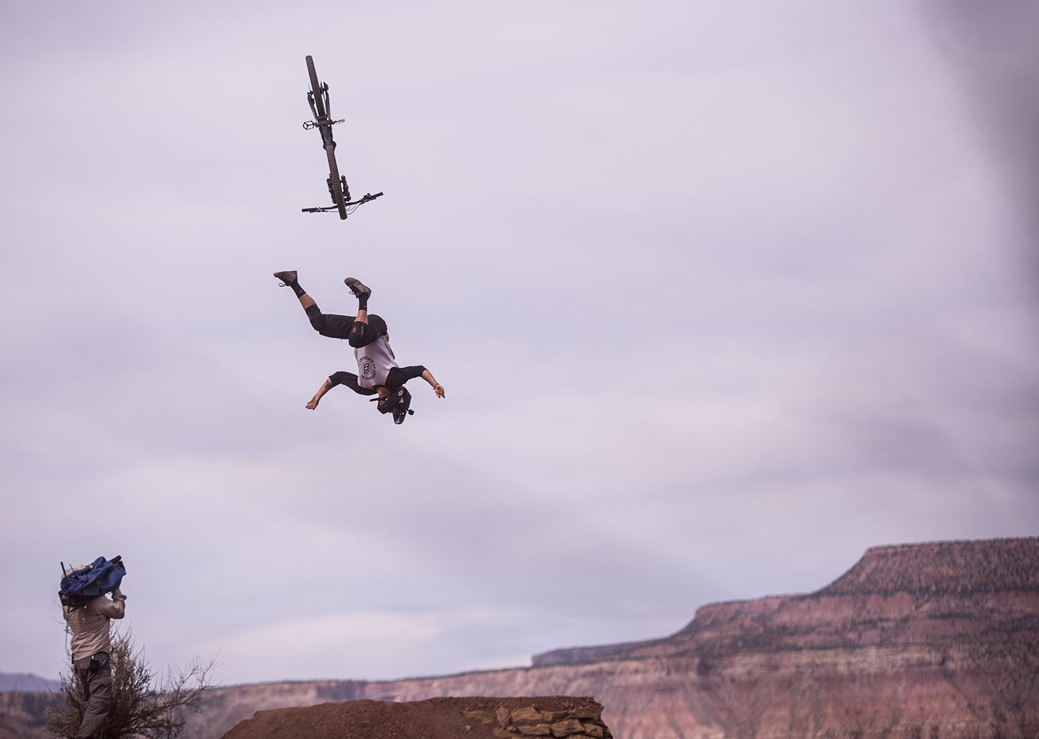 Crashes are part and parcel of competing at Rampage