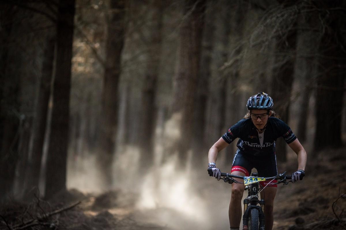 Nelson based, Ingrid Richter, flying through the dust