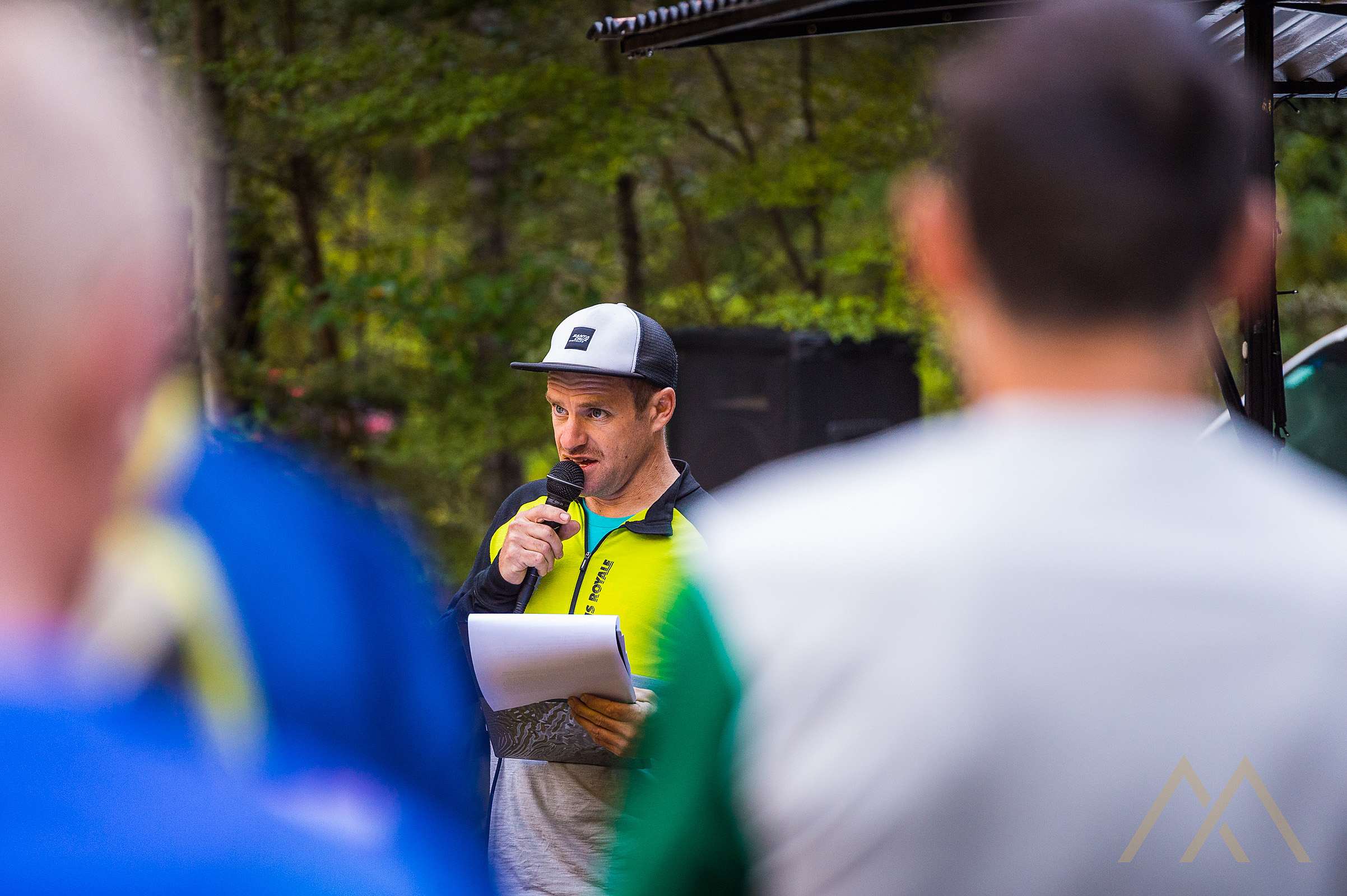 Race Director, Nick Crocker, didn't need to tell riders twice to get on the shuttles!Image: Digby Shaw