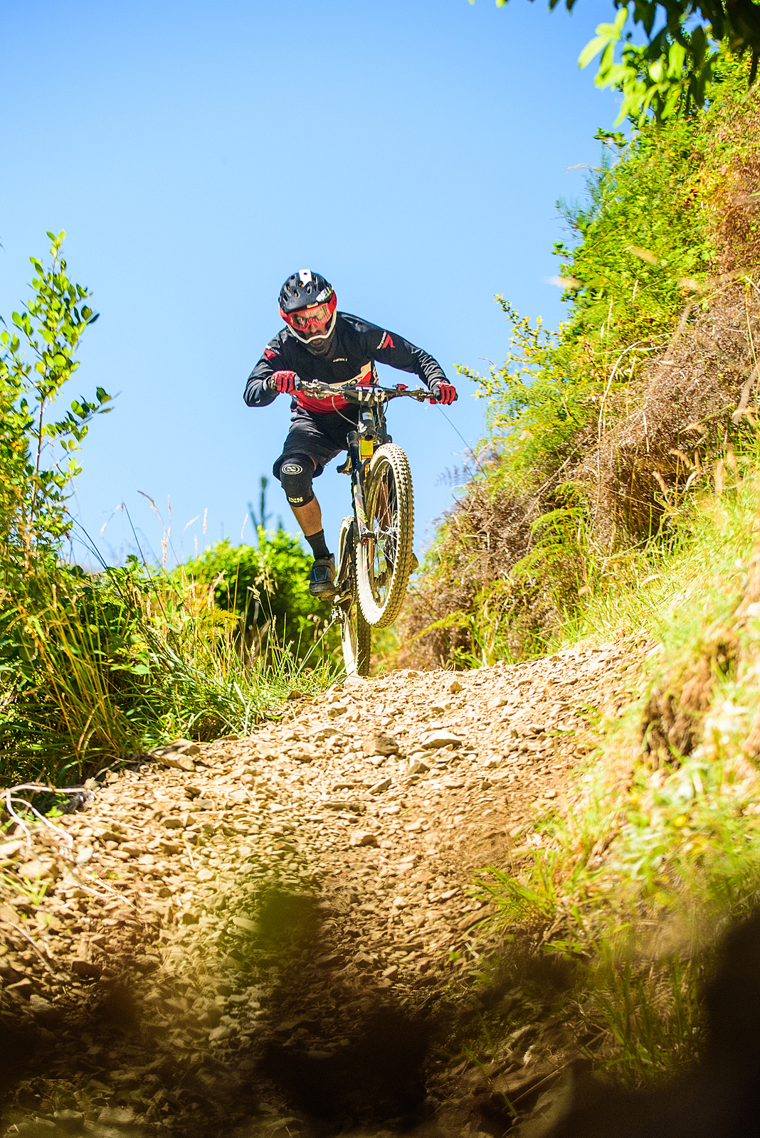 Christchurch rider, Jonas Meier flew into 6th place. Image: Digby Shaw