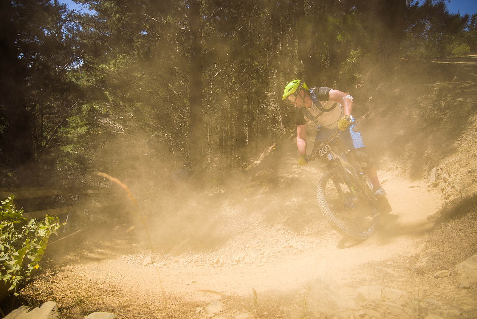 Dusty trails, you were well aware you were catching another rider.Image: Digby Shaw