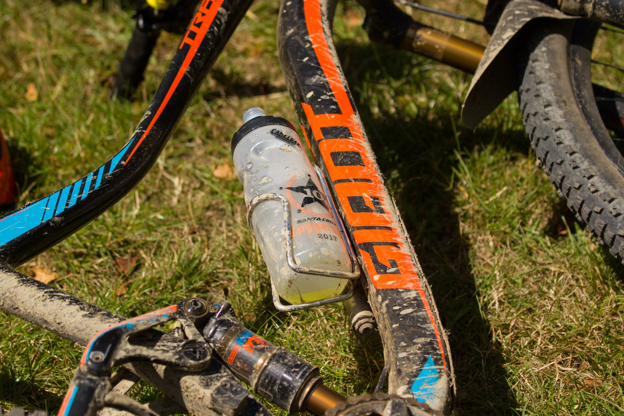 All riders received Camelbak 10th Anniversary water bottles
