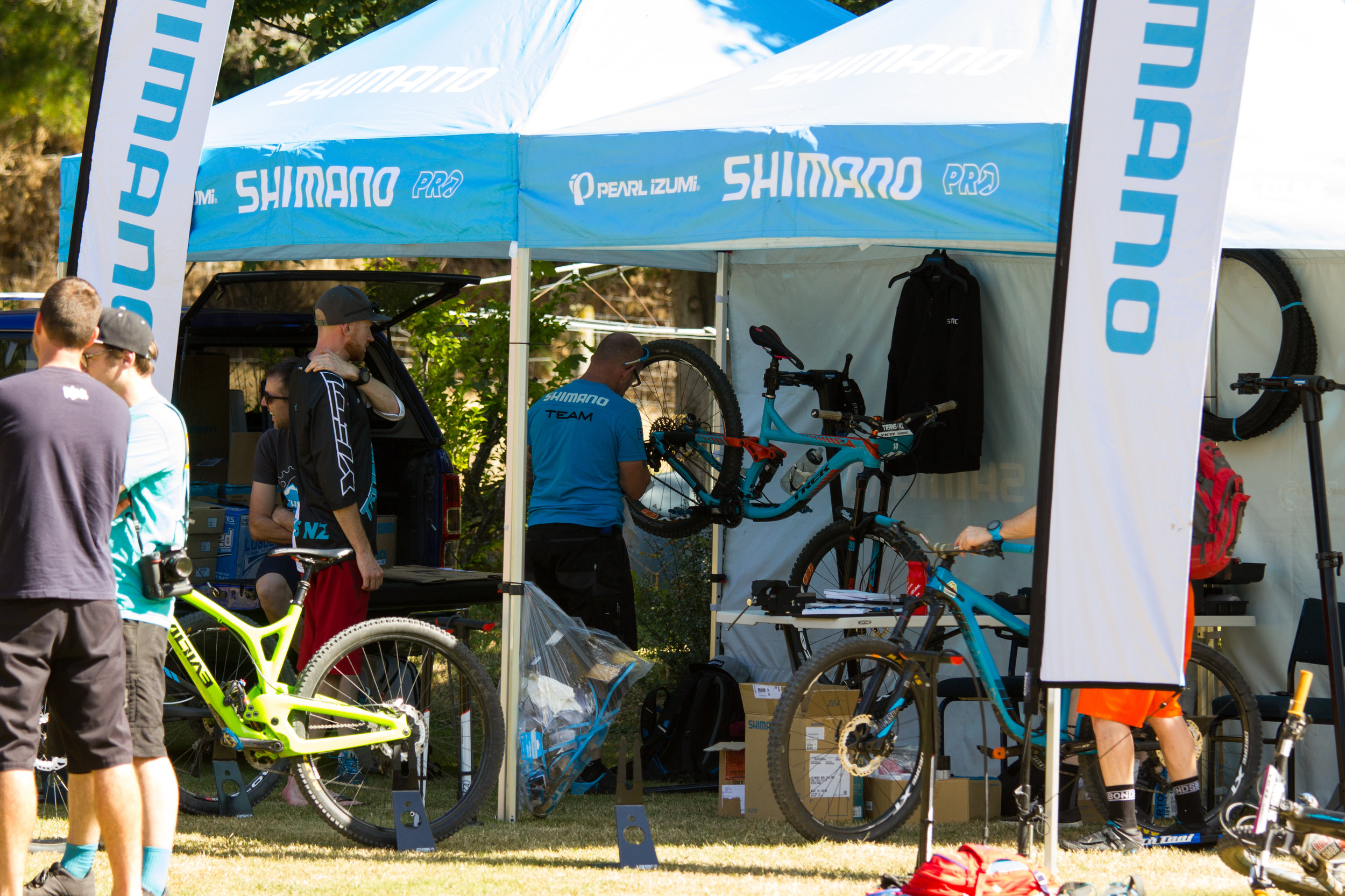 A tent with shiny Shimano things inside......