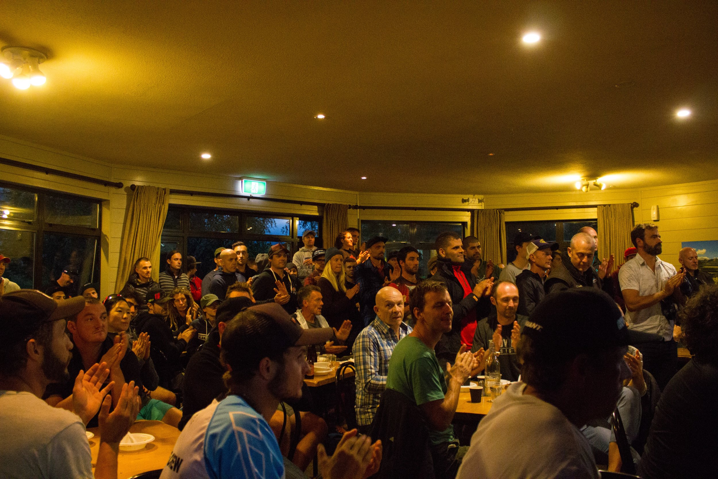 A packed out race briefing, looking to be an awesome race!