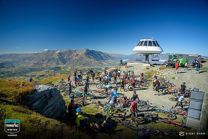 130 riders gather at Coronet Peak lift station ready for stage one