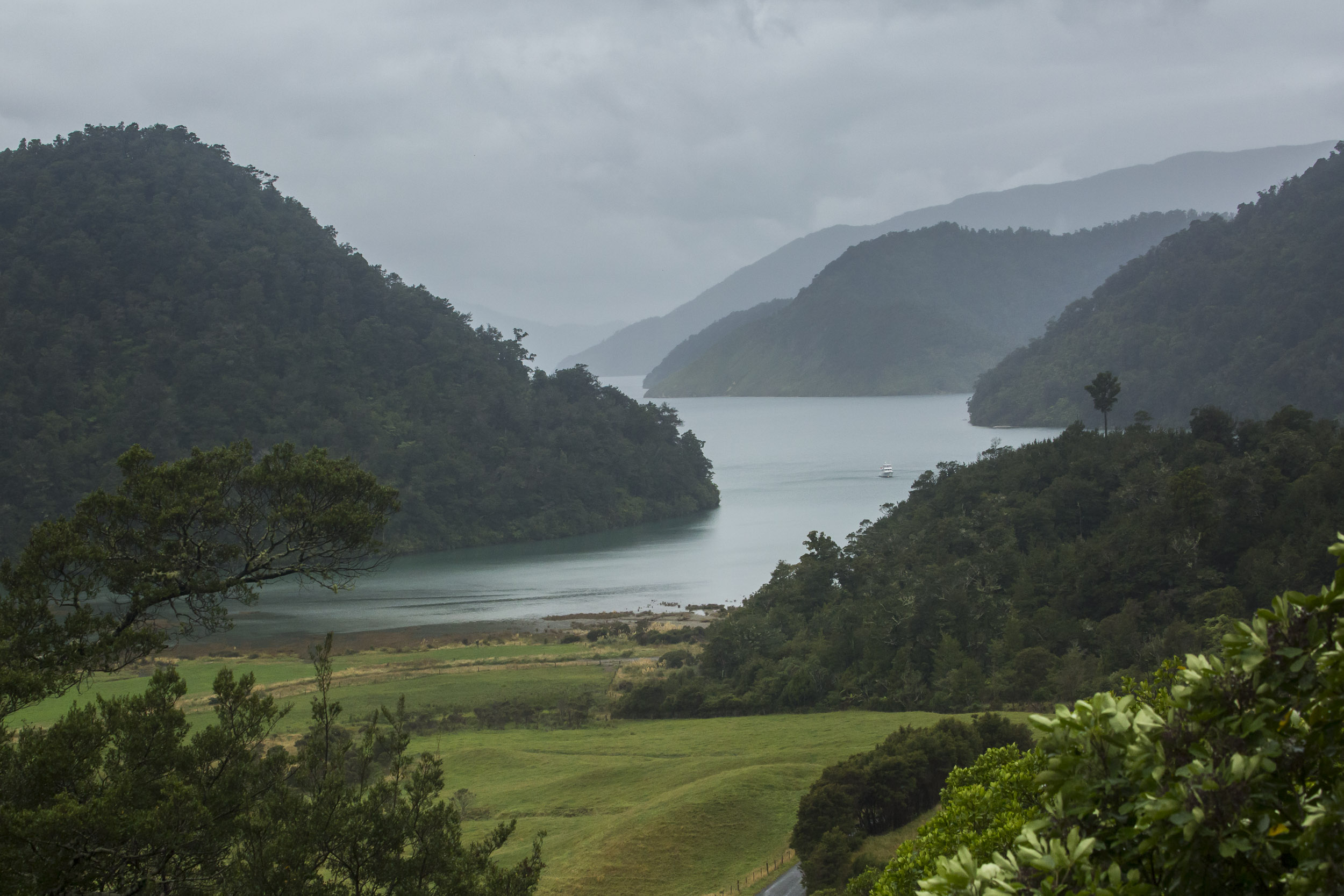 The Pelorus Sounds produce a good veiw whatever the weather