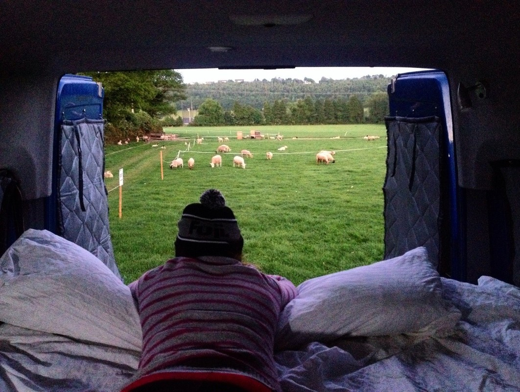 Sharing the field with the locals at EWS HQ. Not a bad spot to park the bed.
