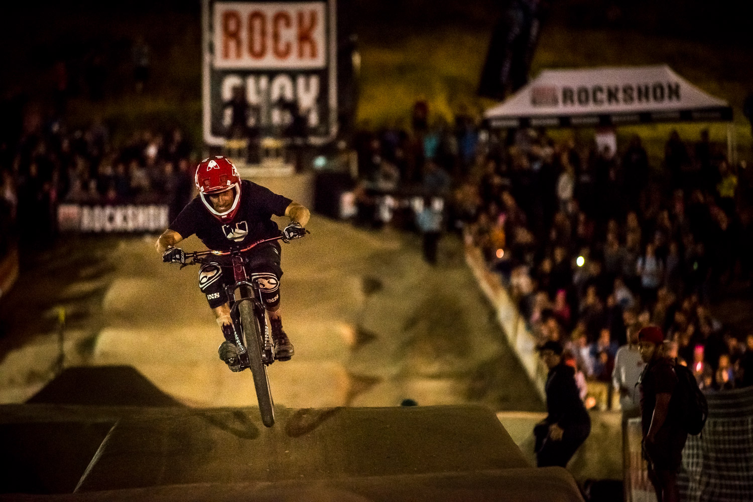 Adrien Loron pushes hard to put himself into the best place for the 'King of Crankworx' title.