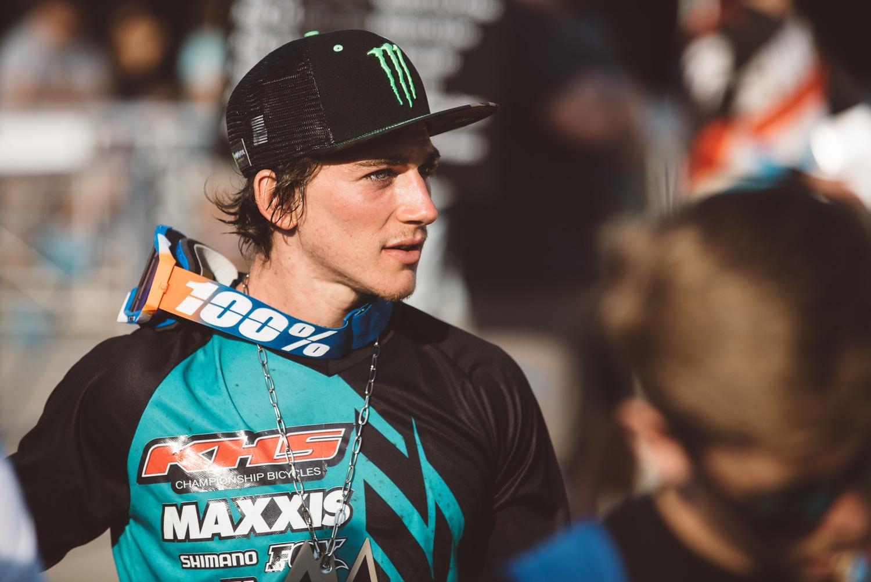 Third place KHS factory rider, Bruce Klein.