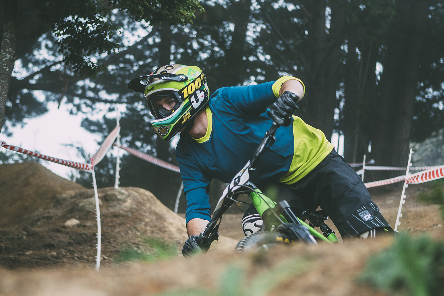Local Jayden Toomey in the groomed berms of 'Jump Track'.