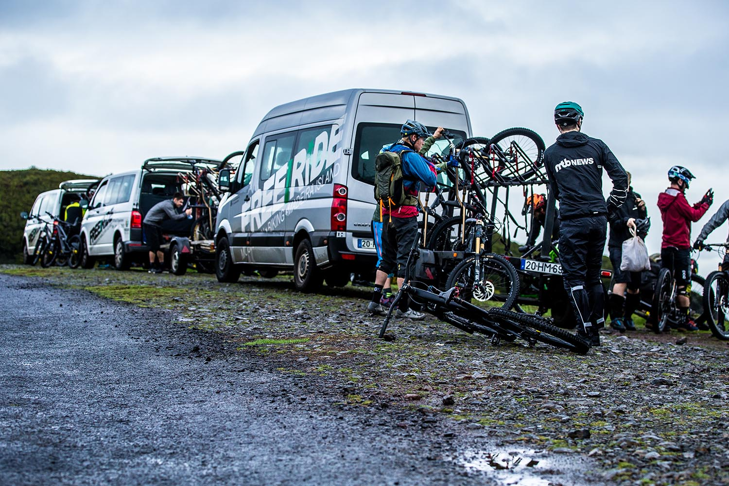 Shuttled by the boys at Freeride Madeira