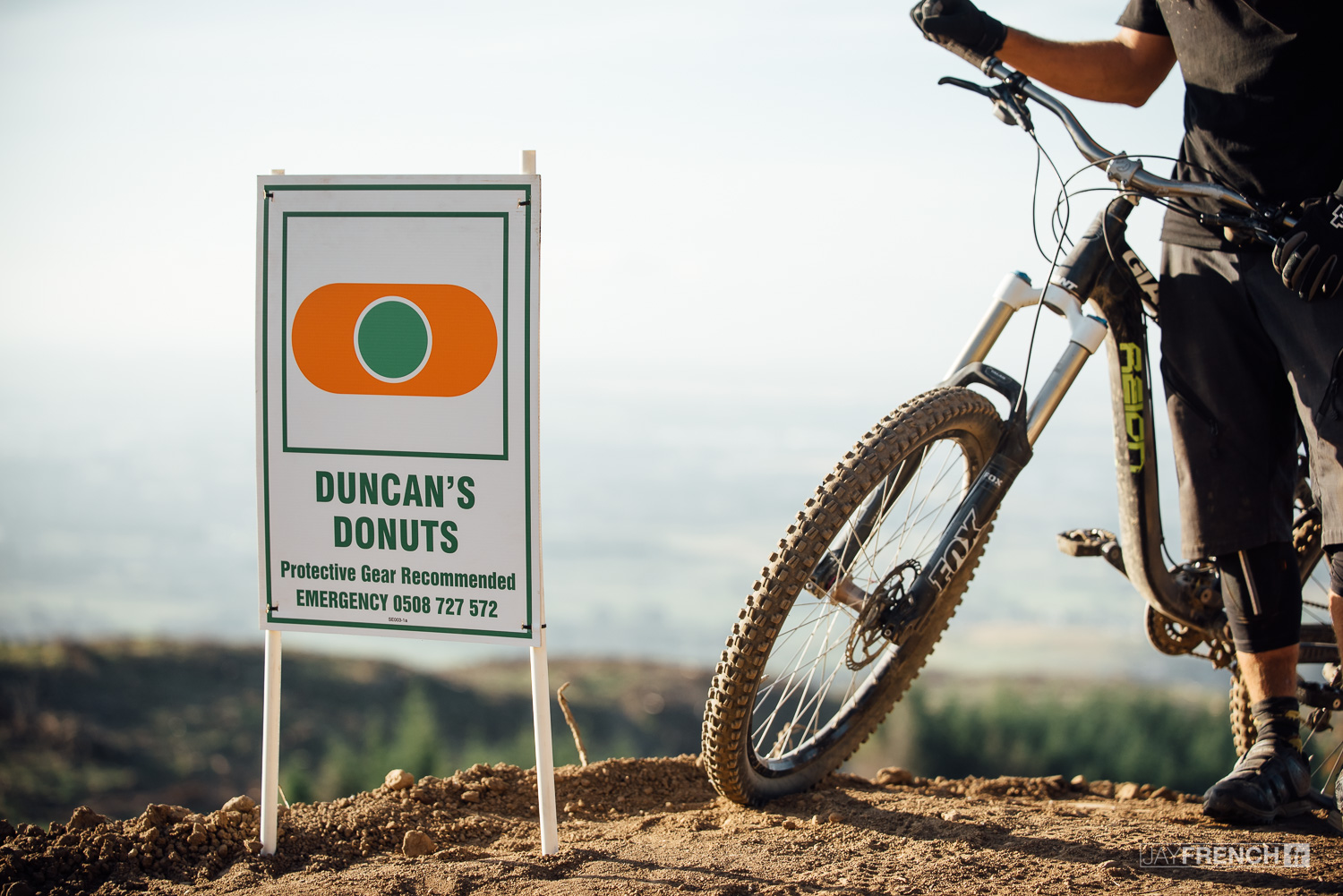 Dropping in to 'Duncan's Donuts'.