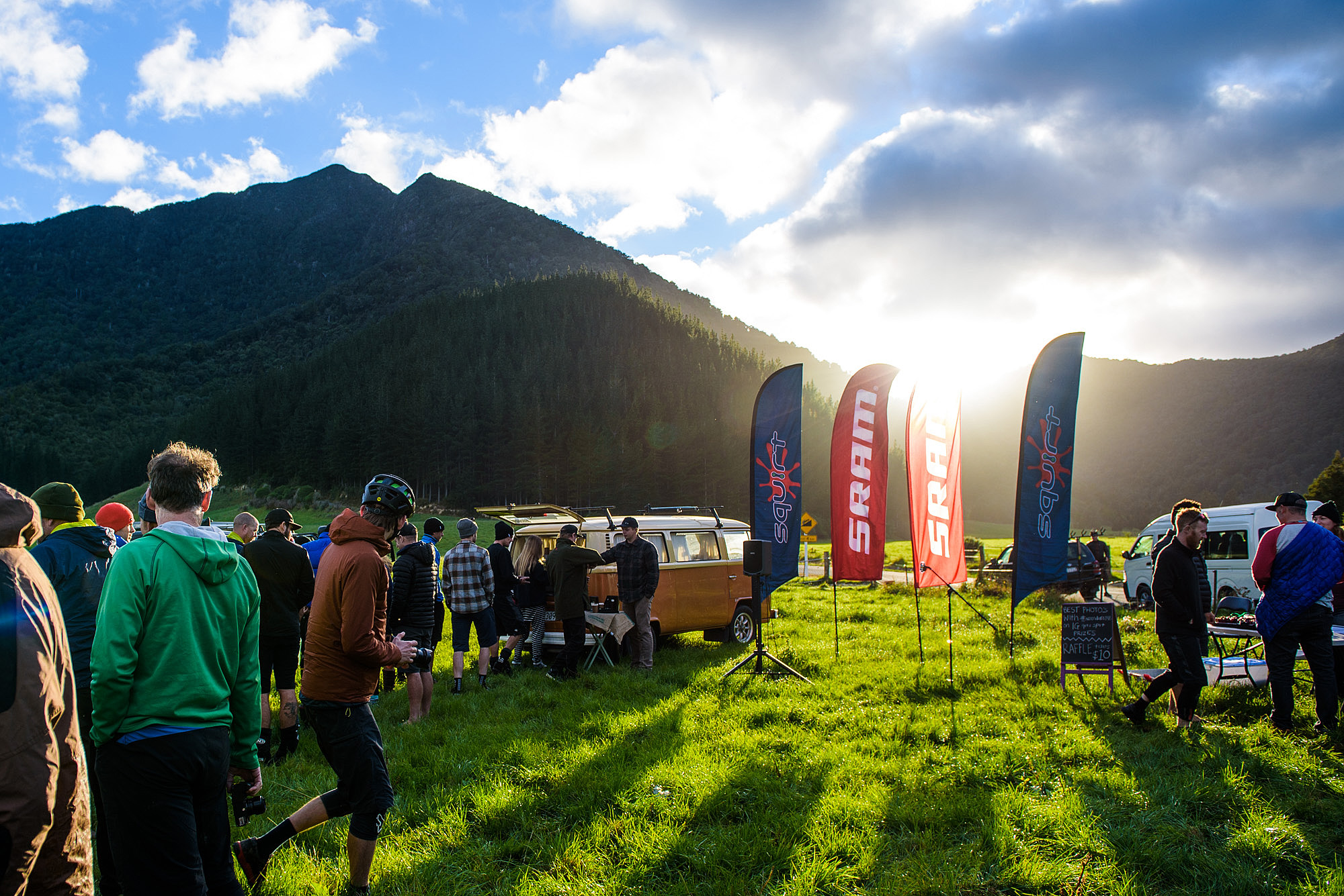 NZ Enduro day two began with a blaze of sunshine in a paddock in Opouri Valley.