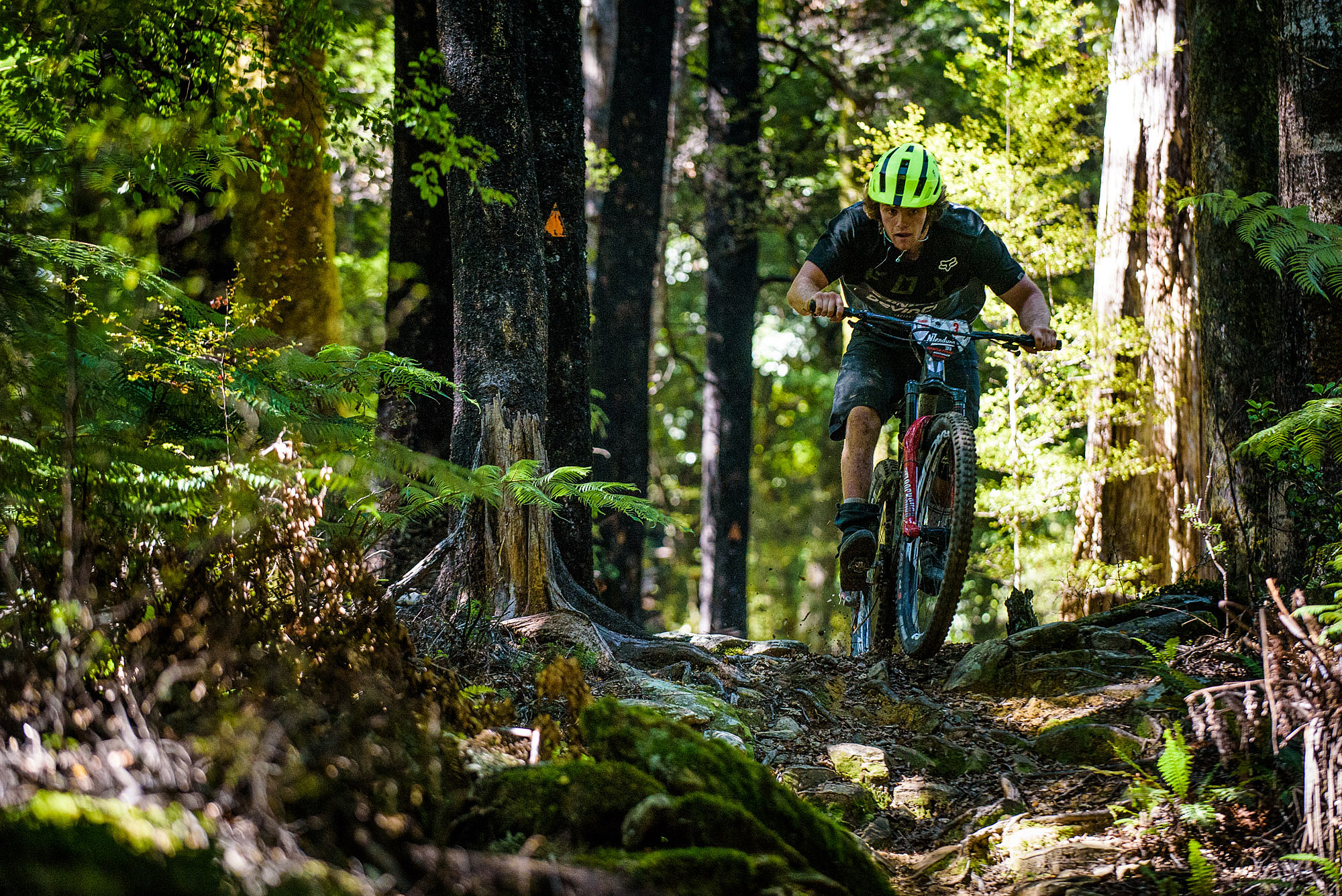 Keegan Wright crashed out on stage one yesterday, hurting his shoulder in the process. He took the rest of the day off but came back today and to ride the trails anyway and posted a 2nd place 10.41 on the monster stage two 16 seconds back from winner Jerome even though he said he was holding back.