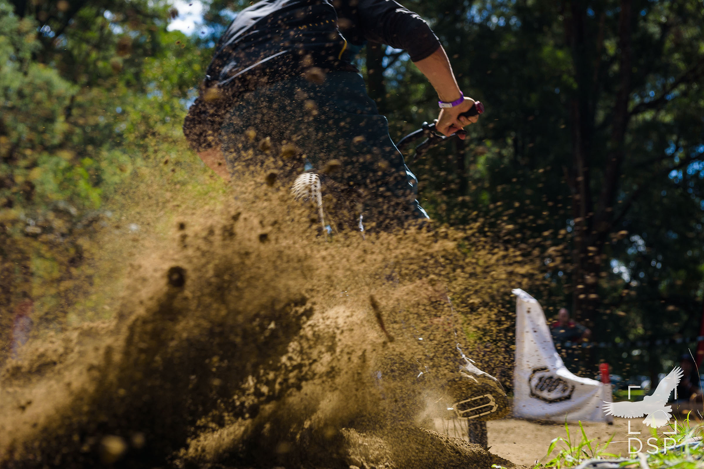 Riders pushed right to the limits of grip.