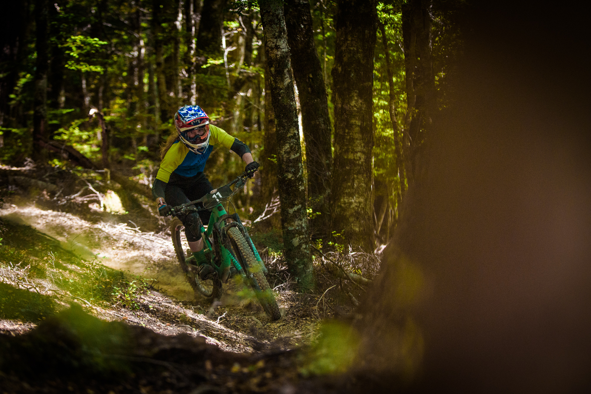 Anja McDonald was getting after it, going quick enough for second in the women's field. Photo: Digby Shaw.