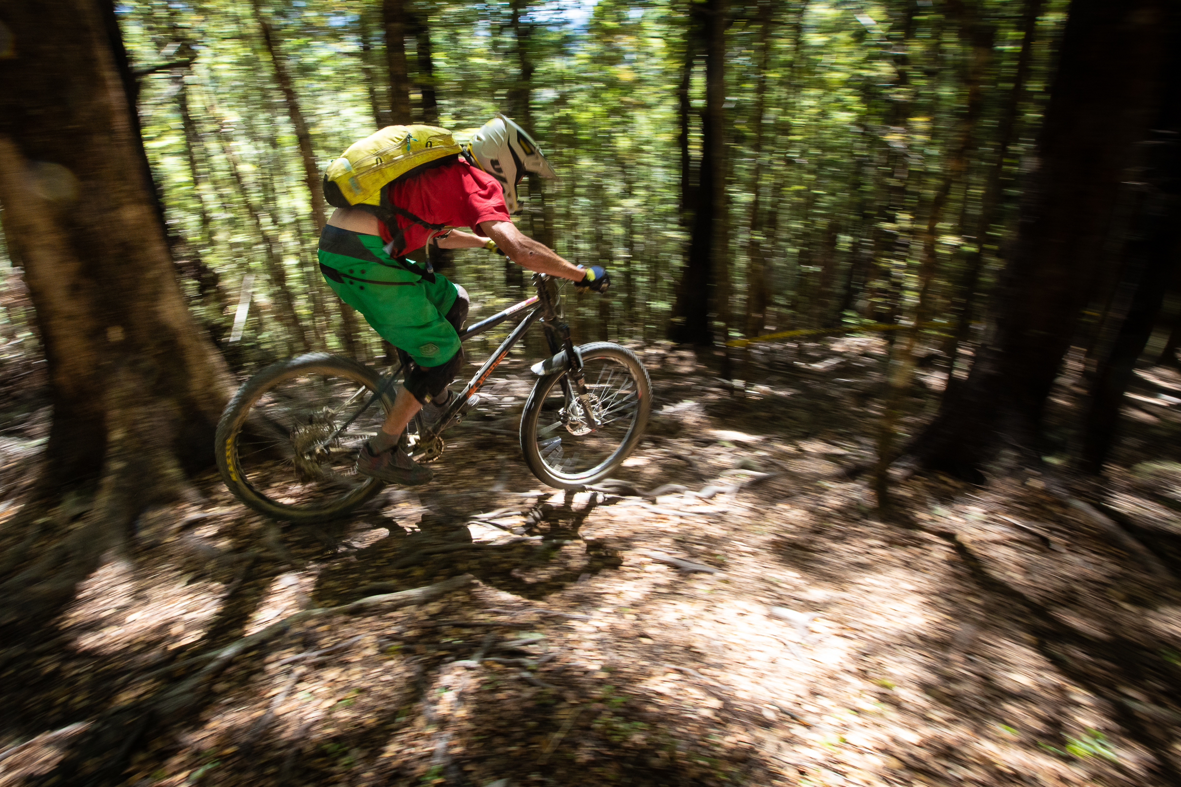 A few brave souls showed no regard for their bodies by taking on the course on a hardtail. Photo: Matt Wood.