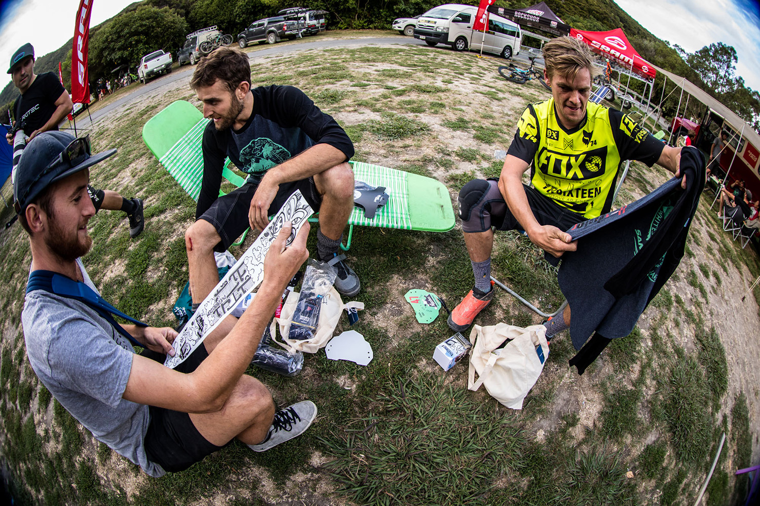 The infamous NZ Enduro goodie bag was a hit with everyone. DYED BRO sticker kits, yes please.