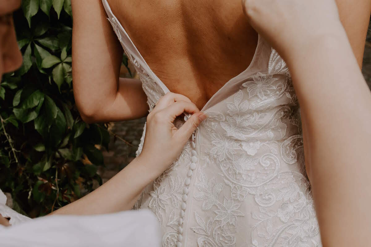 bespoke bridal - Hebe Marsh-He, a talented designer with an eye for a feminine cut and elegant detailing, will work with you to turn your dream dress into a reality