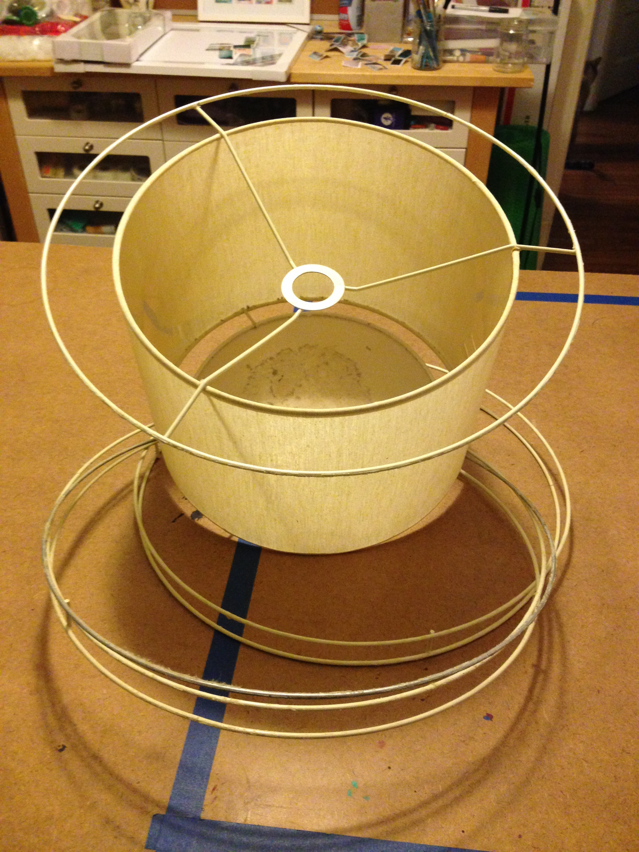 - I'd removed the outer ring and needed to clean the glue and the inner drum.