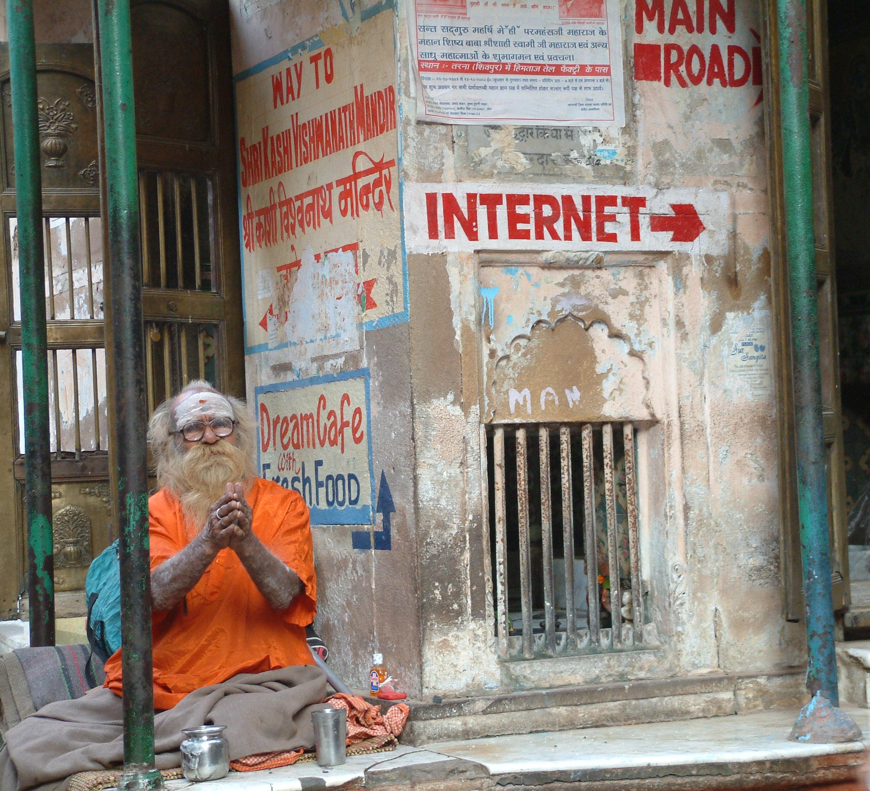 Man and the Internet - Varanasi